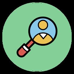 Ícones médicos de lupa médica ícones
