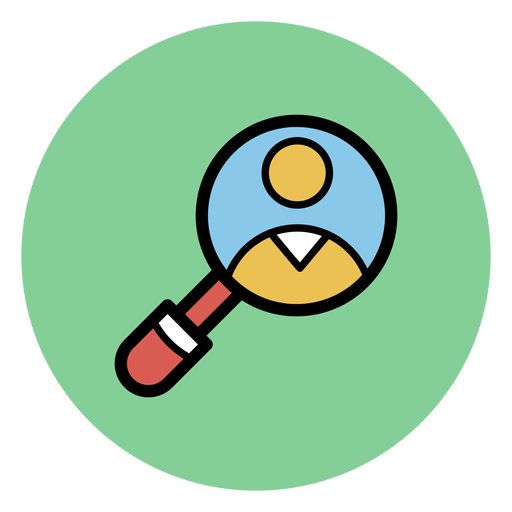 Medical magnifying glass icon medical icons