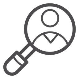 Medical magnifying glass stroke icon