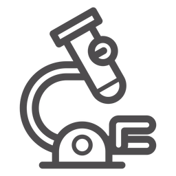Ícone de traçado de microscópio médico