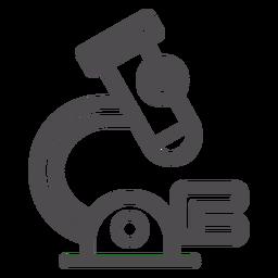 Icono de trazo médico microscopio