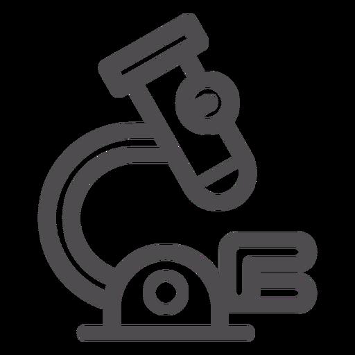 Ícone de traçado de microscópio médico Transparent PNG
