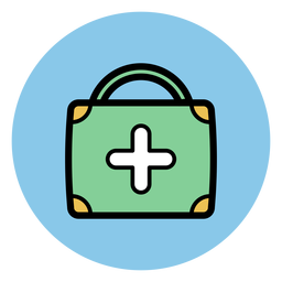 Medical suitcase icon