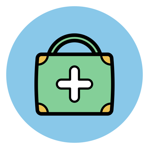 Medical suitcase icon Transparent PNG