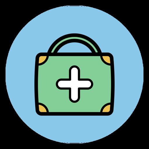 Medical suitcase icon