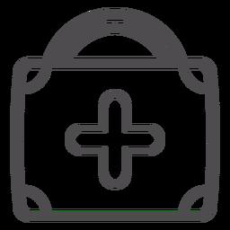 Icono de trazo de maleta médica