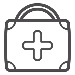 Medical suitcase stroke icon
