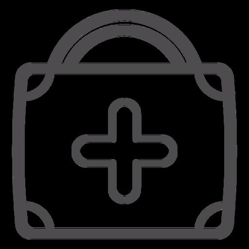 Icono de trazo de maleta médica Transparent PNG