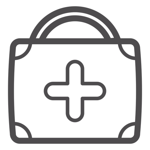 Medical suitcase stroke icon Transparent PNG