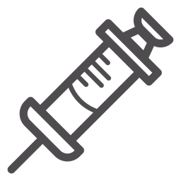 Ícone de traçado de seringa médica
