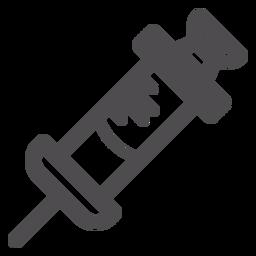 Jeringa médica icono de trazo