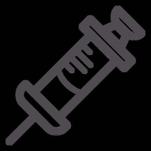 Medizinische Spritze Strich-Symbol Transparent PNG