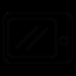 Icono de trazo del horno de microondas