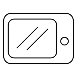 Microwave oven stroke icon