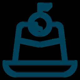 Mini-Kirschkuchen-Symbol