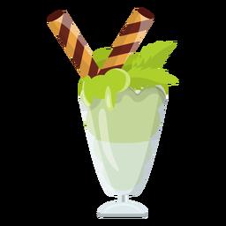 Helado de menta helado