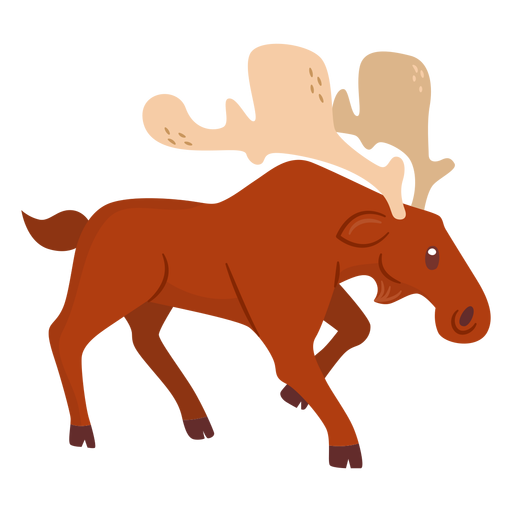 Dibujos animados de animales alces Transparent PNG