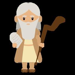 Ilustración del personaje de Moisés