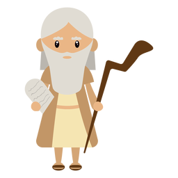 Moses character illustration