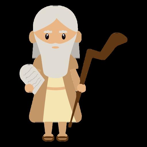 Ilustración de personaje de Moisés Transparent PNG