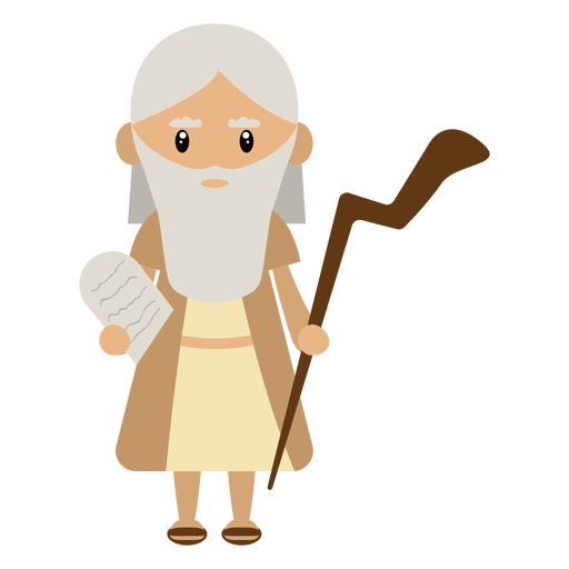 Moses character illustration Transparent PNG
