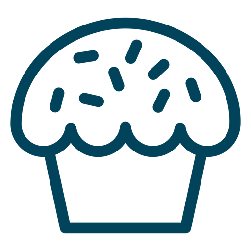 Muffin stroke icon Transparent PNG