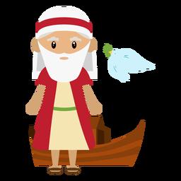 Ilustración de personaje de Noé