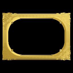 Moldura dourada ornamental