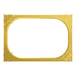 Ornamental golden frame
