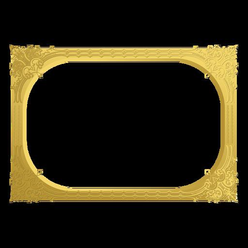 Marco dorado ornamental Transparent PNG