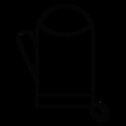 Ícone de traçado de luva de forno