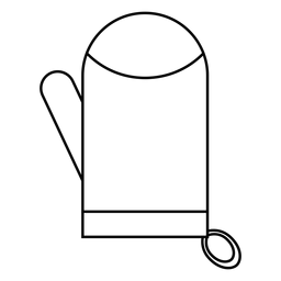 Oven glove stroke icon