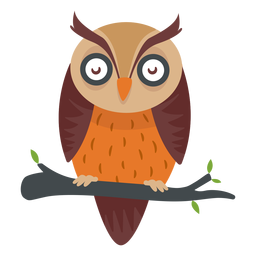 Dibujos animados de aves búho