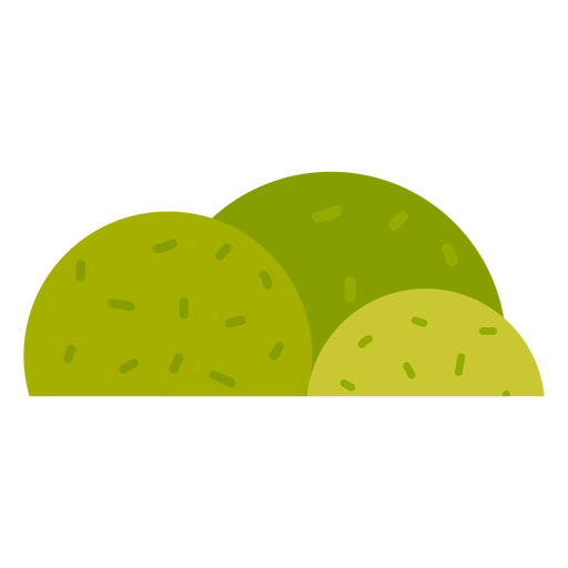 Park shrub icon Transparent PNG