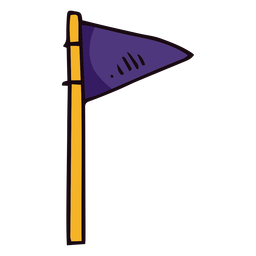 Pennant flag post basketball icon