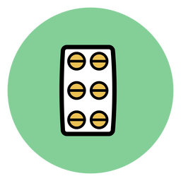 Icono de la ampolla de la píldora