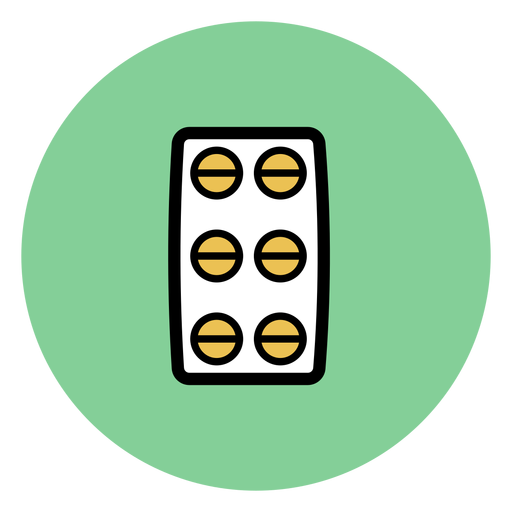 Ícone de bolha pílula Transparent PNG