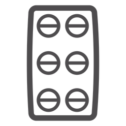 Pill blister stroke icon