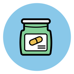 Pill jar icon