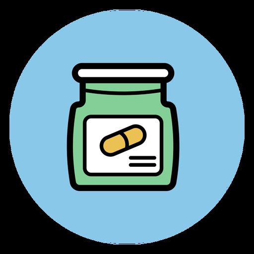 Ícone jarra pílula Transparent PNG