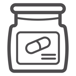 Pill jar stroke icon