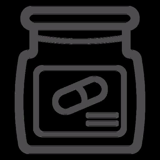Pill jar stroke icon