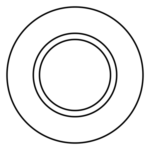 Plate dish stroke icon Transparent PNG
