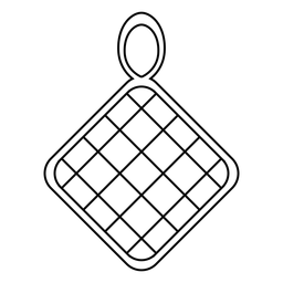 Ícone do curso do suporte de panela