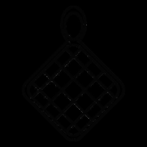 Pot holder stroke icon Transparent PNG