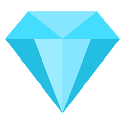 Precious diamond flat icon