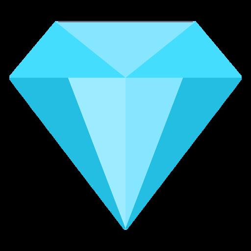 Diamante precioso icono plana Transparent PNG