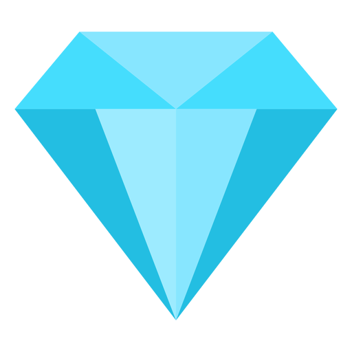 Precious diamond flat icon Transparent PNG