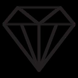 Precioso icono de trazo de diamante