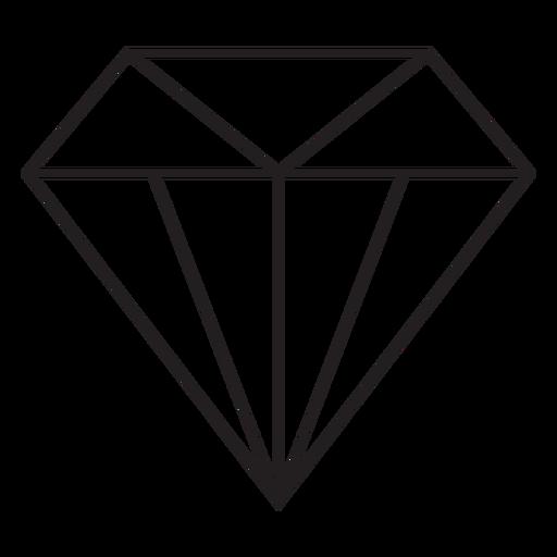 Precioso icono de trazo de diamante Transparent PNG